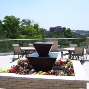 The fountain on our garden terrace is a lovely centerpiece to the space.