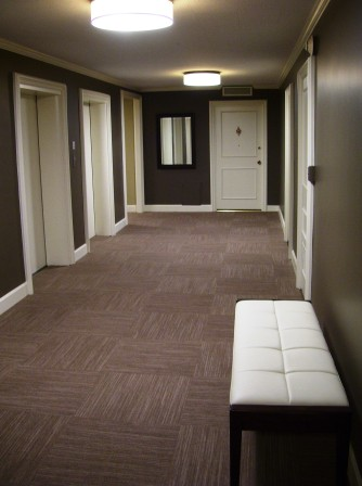 Our halls feature welcoming, modern decor.