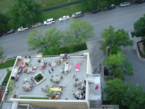 Fun and fellowship on the Garden Terrace.