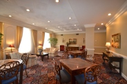 Large social spaces for parties and gatherings.